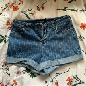 Striped Button Fly Shorts